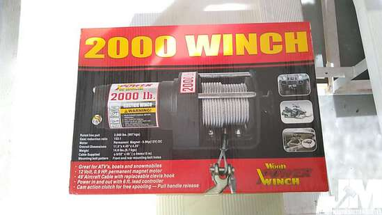 2000 LB ELECTRIC WINCH