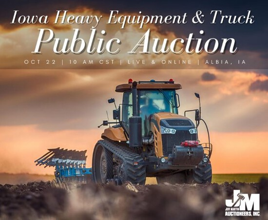 Iowa Heavy Equipment & Truck Public Auction