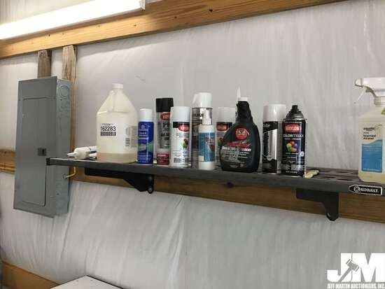 QTY OF MISC PAINT SUPPLIES & RELATED CHEMICALS