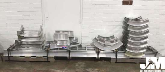 PALLET LOT WITH 2 12 FOOT TRAYS, ALSO INCLUDES 16
