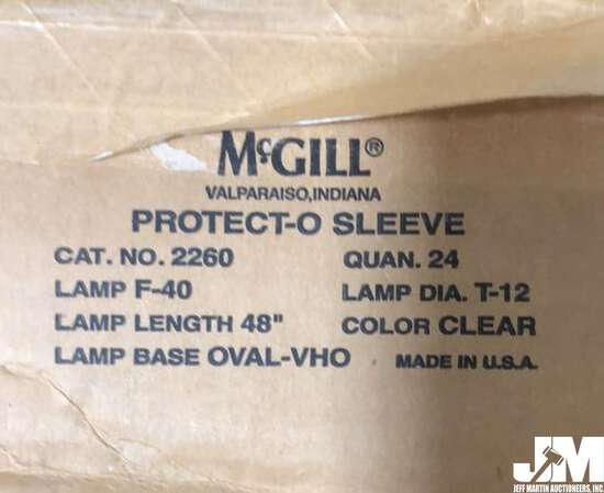 MCGILL PROTECTO-SLEEVES FOR FLUORESCENT LAMP TUBES, ONE BOX CONTAINS 24