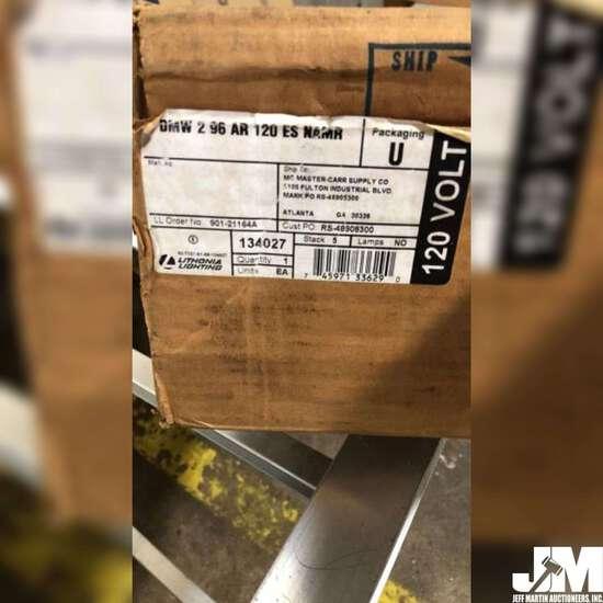 LIVONIA INDUSTRIAL LIGHT FIXTURE, STICKER ON BOX READS DMW 2
