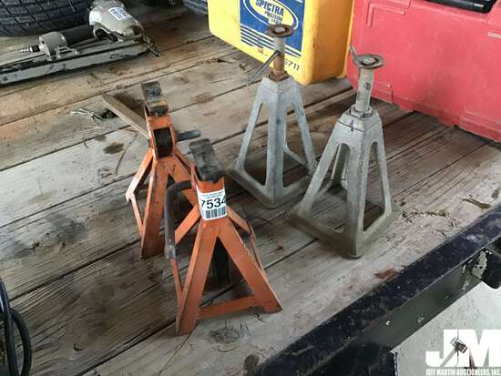 QTY OF (2) SETS OF HEAVY DUTY JACK STANDS