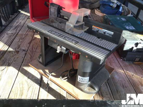 CRAFTSMAN PROFESSIONAL ROUTER W/ TABLE