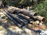 QTY OF MISC INDUSTRIAL STEEL PIPES, VARIOUS DIAMETERS AND LENGTHS
