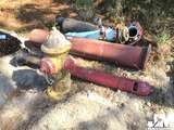 QTY OF MISC INDUSTRIAL METAL PIPES AND FIRE HYDRANT