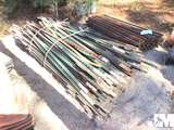 QTY OF MISC METAL FENCE POSTS