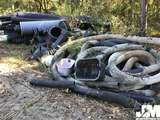 QTY OF MISC CORRUGATED BLACK PIPE AND SOCK PIPE, VARIOUS