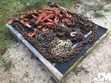 PALLET OF MISC CHAINS AND BINDERS