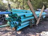 QTY OF MISC GREEN PVC PIPE