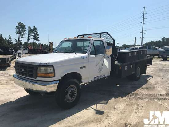 1992 FORD F-SUPER DUTY VIN: 2FDLF47M1NCA56228 REGULAR CAB FLATBED