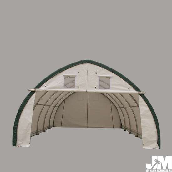 (NEW/UNUSED) 2020 GOLDEN MOUNTAIN S203012P DOME STORAGE SHELTER, 20'X30'X12'
