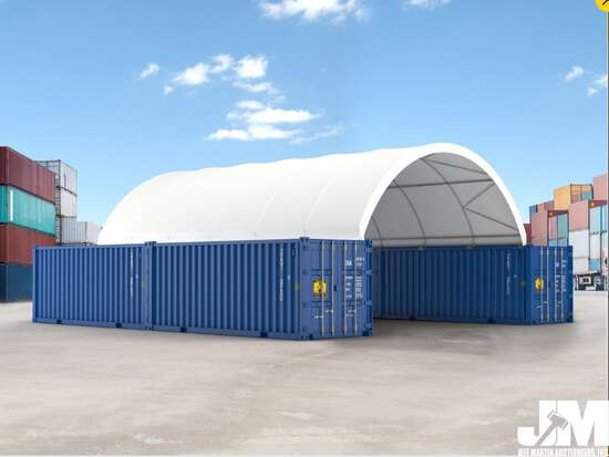(NEW/UNUSED) 2020 GOLDEN MOUNTAIN C2040 DOME CONTAINER SHELTER, 20'X40'