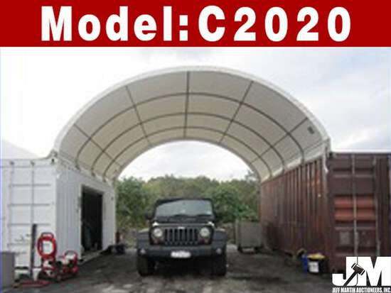 (NEW/UNUSED) 2020 GOLDEN MOUNTAIN C2020 DOME CONTAINER SHELTER, 20'X20'