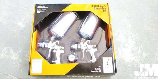 (UNUSED) 3 PC H.V.L.P. AIR SPRAY GUN KIT