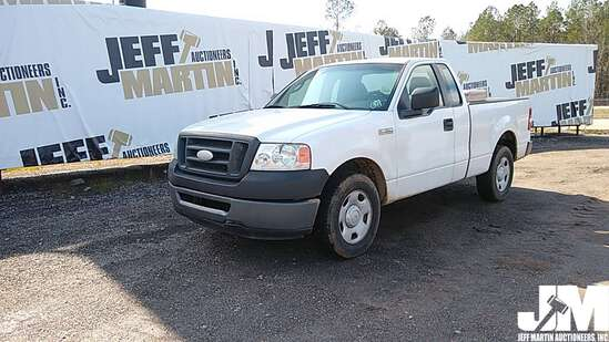 2007 FORD F-150XL EXTENDED CAB PICKUP VIN: 1FTRF12W77KC90605