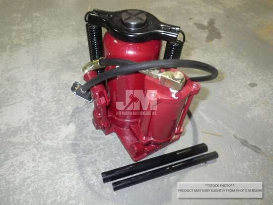 (UNUSED) 20 TON AIR/HYDRAULIC BOTTLE JACK