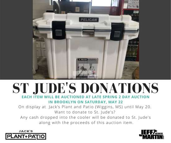 50 QT WHITE PELICAN COOLER TO BE SOLD SATURDAY, MAY