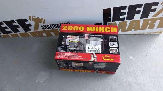 (UNUSED) WOOD POWER 2000 LB 12V UTILITY WINCH