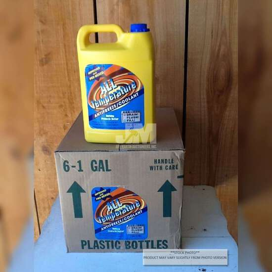 QTY OF (6) 1 GAL ALL TEMPERATURE 50/50 ANTIFREEZE/COOLANT