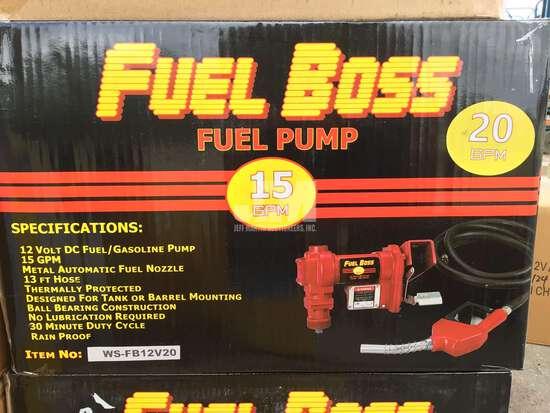 (UNUSED) FUEL BOSS 12 VOLT TRANSFER FUEL PUMP 15 GPM,