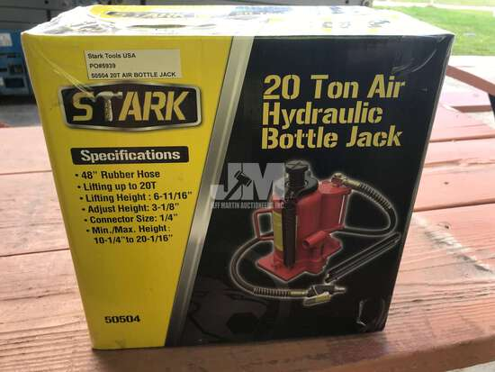 (UNUSED) 20 TON AIR HYDRAULIC BOTTLE JACK,