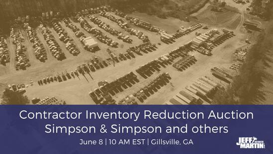 Contractor Inventory Reduction Public Auction
