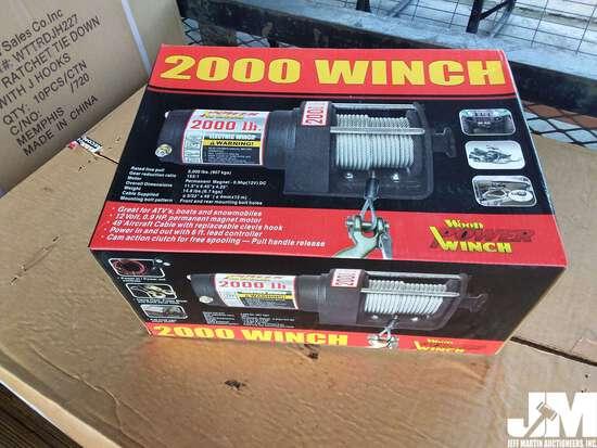 (UNUSED) 2000 LB 12V UTILITY WINCH