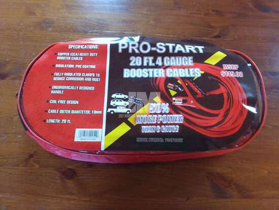 (UNUSED) PRO-START 20' BOOSTER CABLES