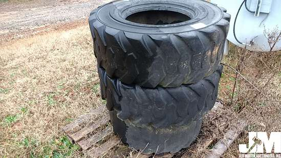 QTY OF (2) 14-17.5 TIRES, (1) 33X15.5-16.5 TIRE, TO FIT
