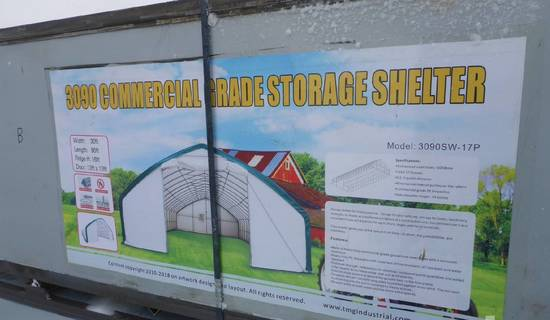 TMG 90 Ft x 30 Ft x 16 Ft Commercial Grade Storage Building