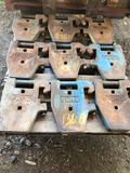 Tractor saddle weights