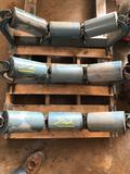 Concave belt conveyor pulleys