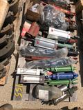 Pallet full of air & hydraulic cylinders