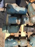 Pallet of electric motors and gearboxes