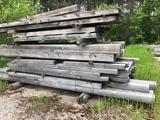 Pine interlocking timbers