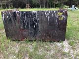Large box goes on forklift