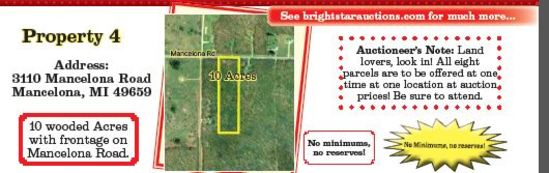 Property #4 10 Acres on Mancelona Rd