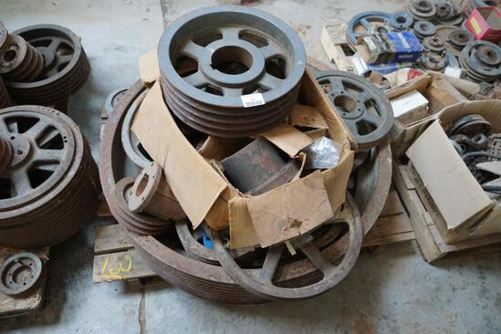 Pallet of Misc. Pulleys