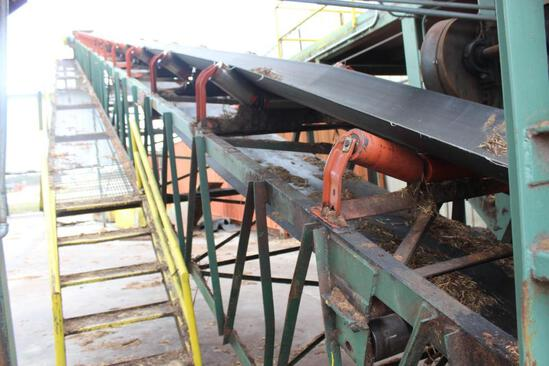 "90'x 36"" Concave Belt Conveyor with 10 HP motor"