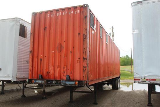 40' closed top container van