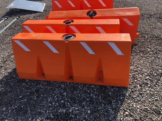 Orange Water Filled Barricades (x10)