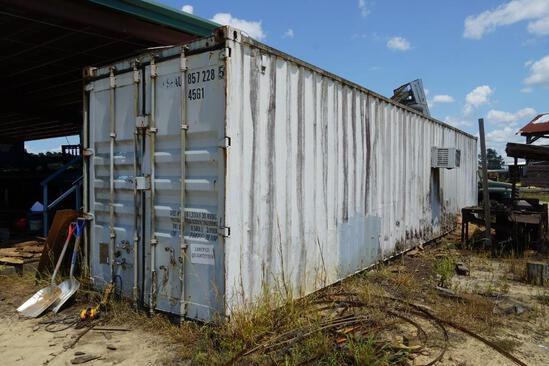 Shipping Container set up as Sharpening Room
