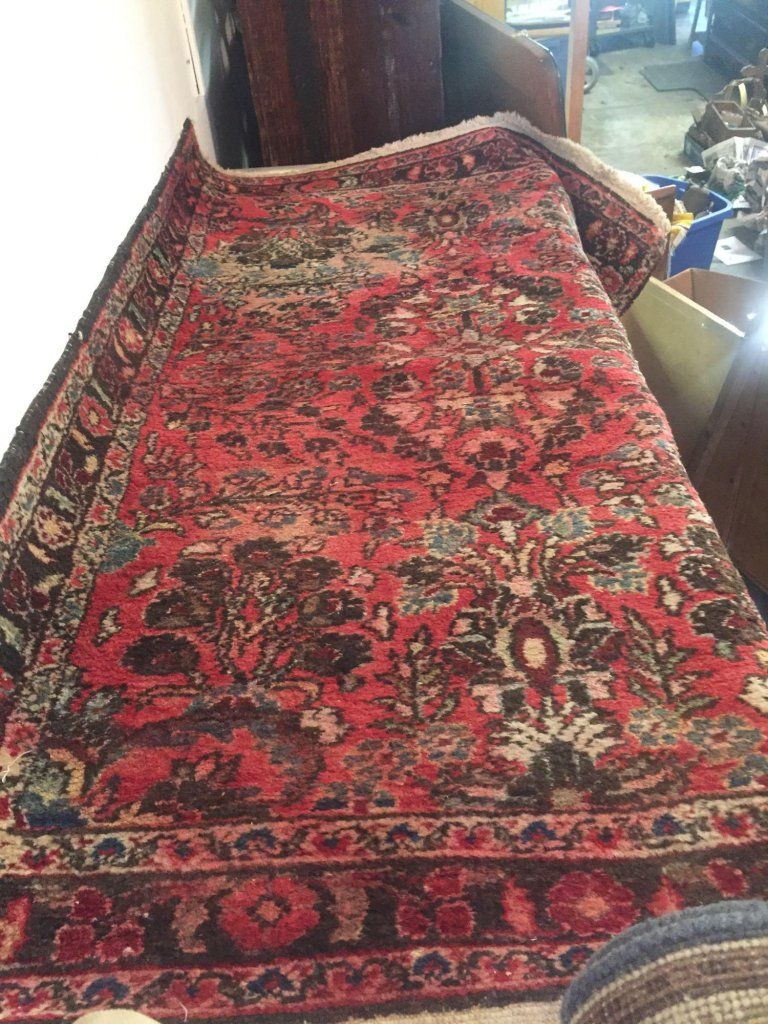 Iranian made colorful wool carpet. 61? x 40?