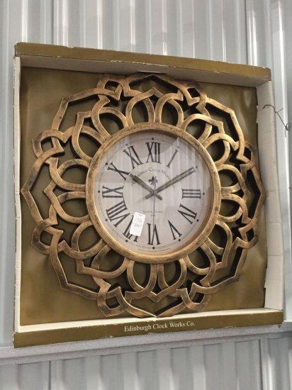 New in box Edinburgh Clock works decorative wall clock