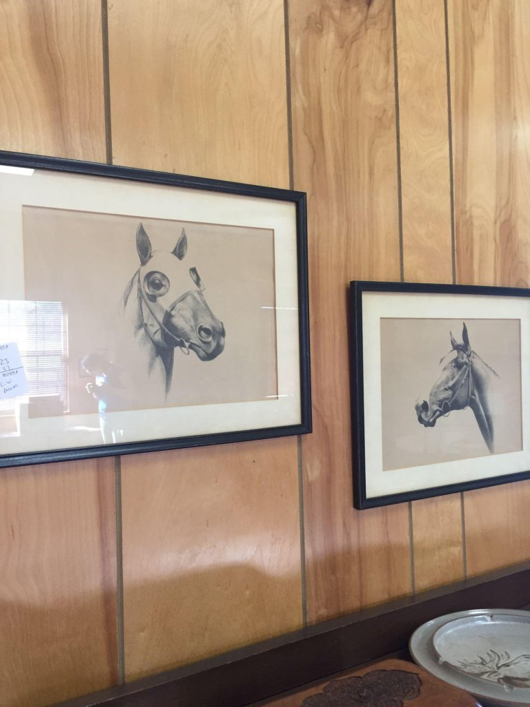 2 C.W. Anderson Framed Horse Prints