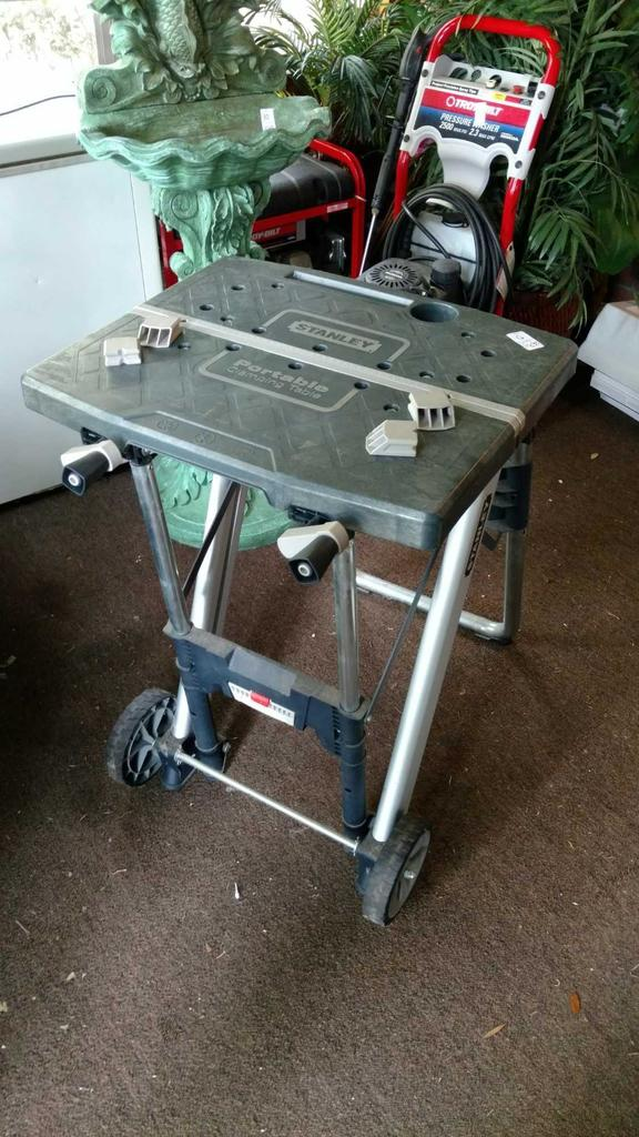 fascinating Stanley Portable Clamping Table Part - 13: Stanley Portable Clamping Table with Power Hook Up
