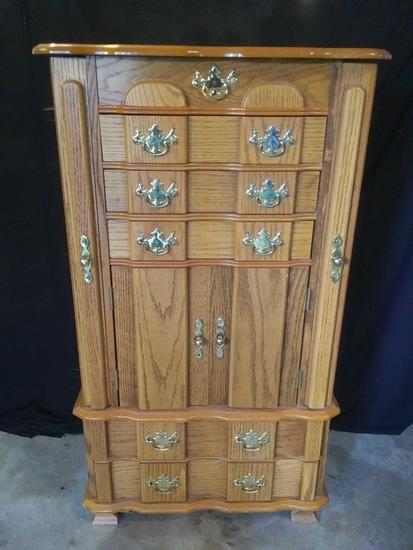 Stunning Wooden Jewelry/Lingerie Cupboard Dresser!!