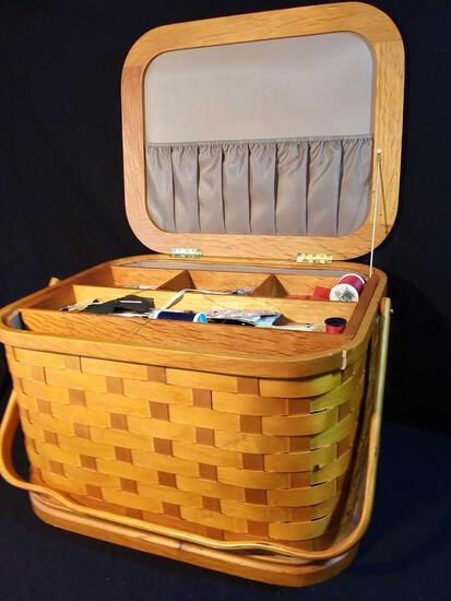 Wow! Extra Large Handled Sewing Basket with All Contents!!!