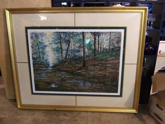 TRANQUIL MOMENT by Michael Schofield, signed, numbered, framed
